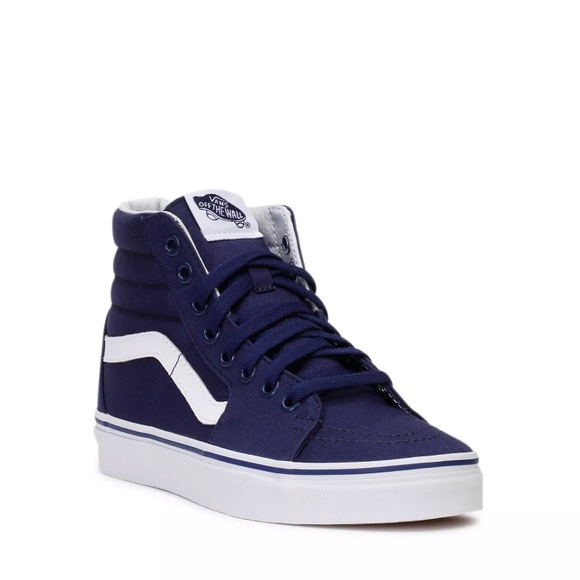 b09f13b95b Vans Shoes | Yankees Blue Sk8 Hitop Sneakers New | Poshmark